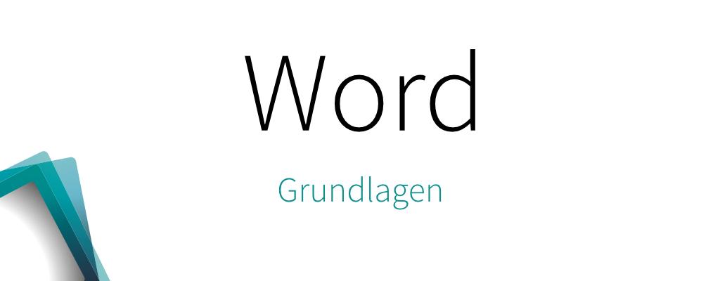 Word – Grundlagen